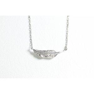 画像1: ミニマムフェザーネックレス |プラチナ×ダイヤモンド|