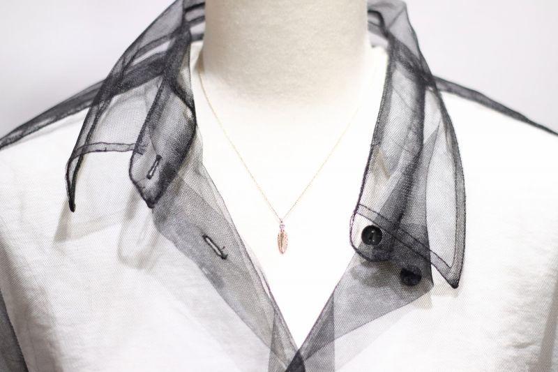 トルソー着用・千年フェザー(XS)K10YG×ダイヤモンドネックレス