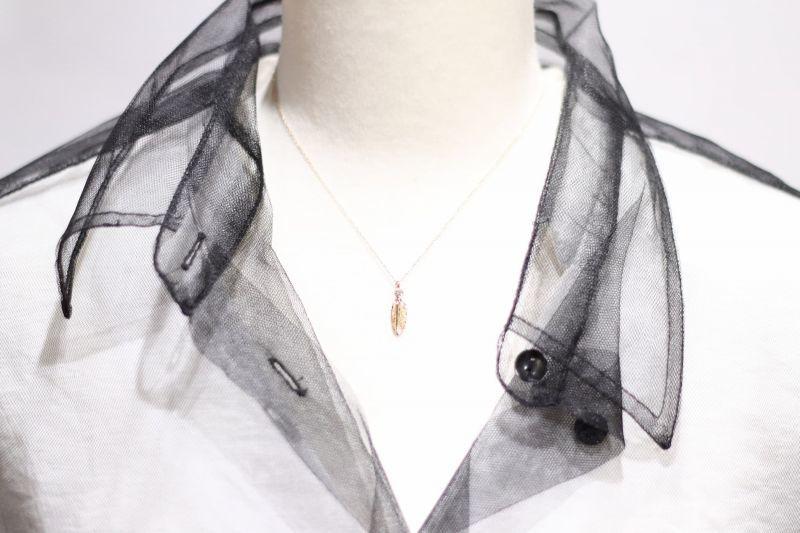 ネックレス詳細画像・千年フェザー(XS)K18YG×ダイヤモンドネックレス