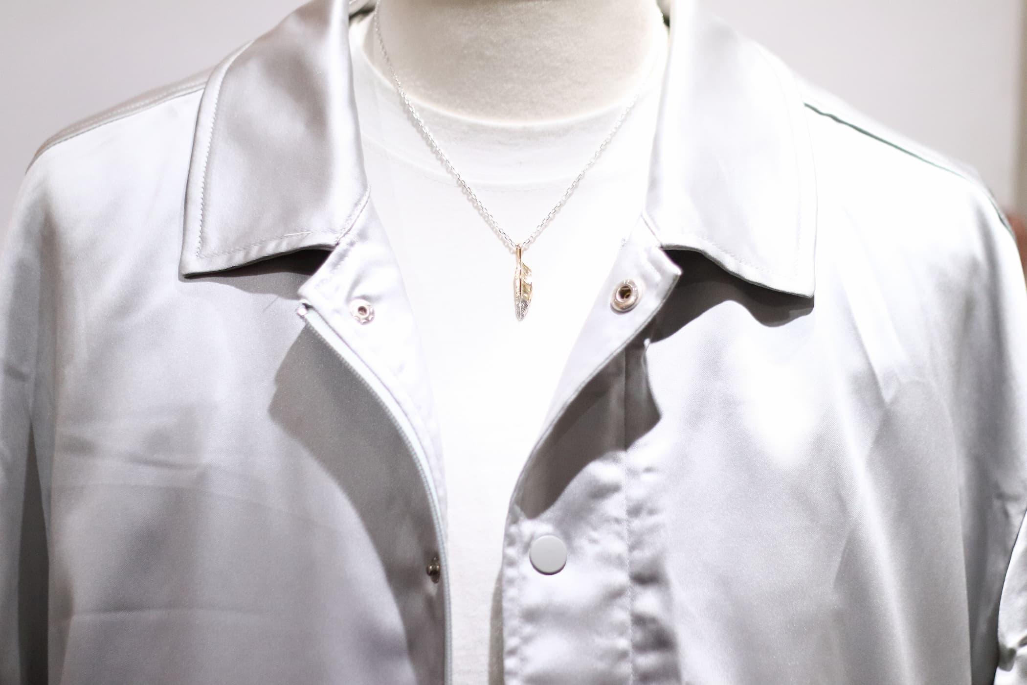 トルソー着用・千年フェザー(S2先銀)ネックレス・チェーン45cm