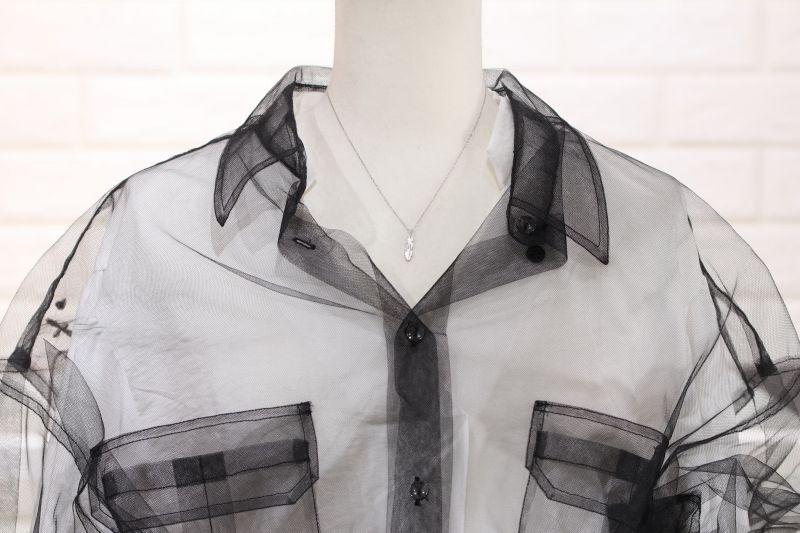 トルソー着用・マイクロフェザーネックレス|プラチナ